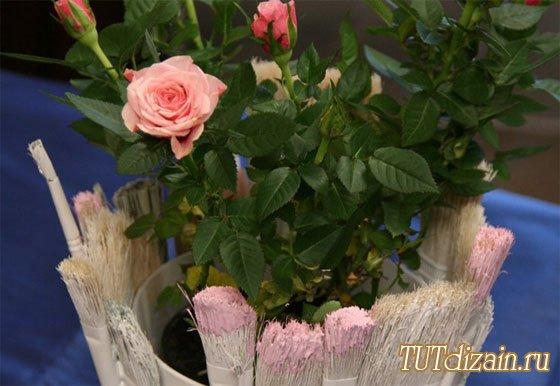 florero, brochas, reciclar, manualidades, diys