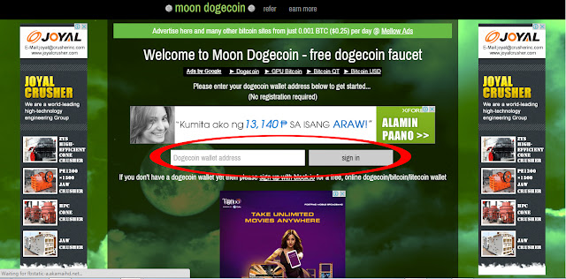 Moon Dogecoin get free dogecoins every 5 minutes, super easy