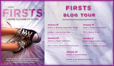 Firsts Blog Tour postcard