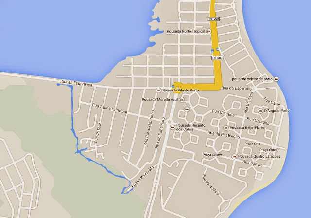 Mapa de Porto de Galinhas