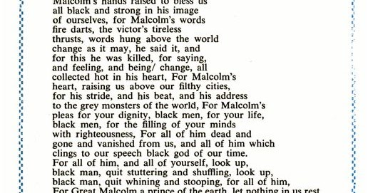 Malcolm X Poems 2
