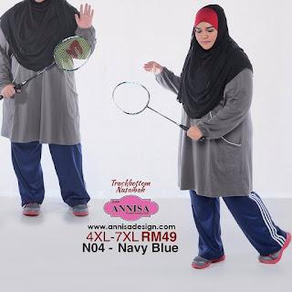 seluar sukan wanita saiz besar