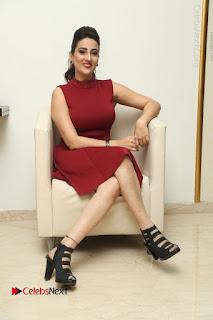 Telugu Tollywood Anchor Manjusha Pos in Red Short Dress  0107.JPG