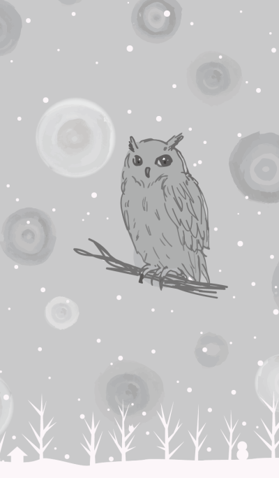 owl and snow