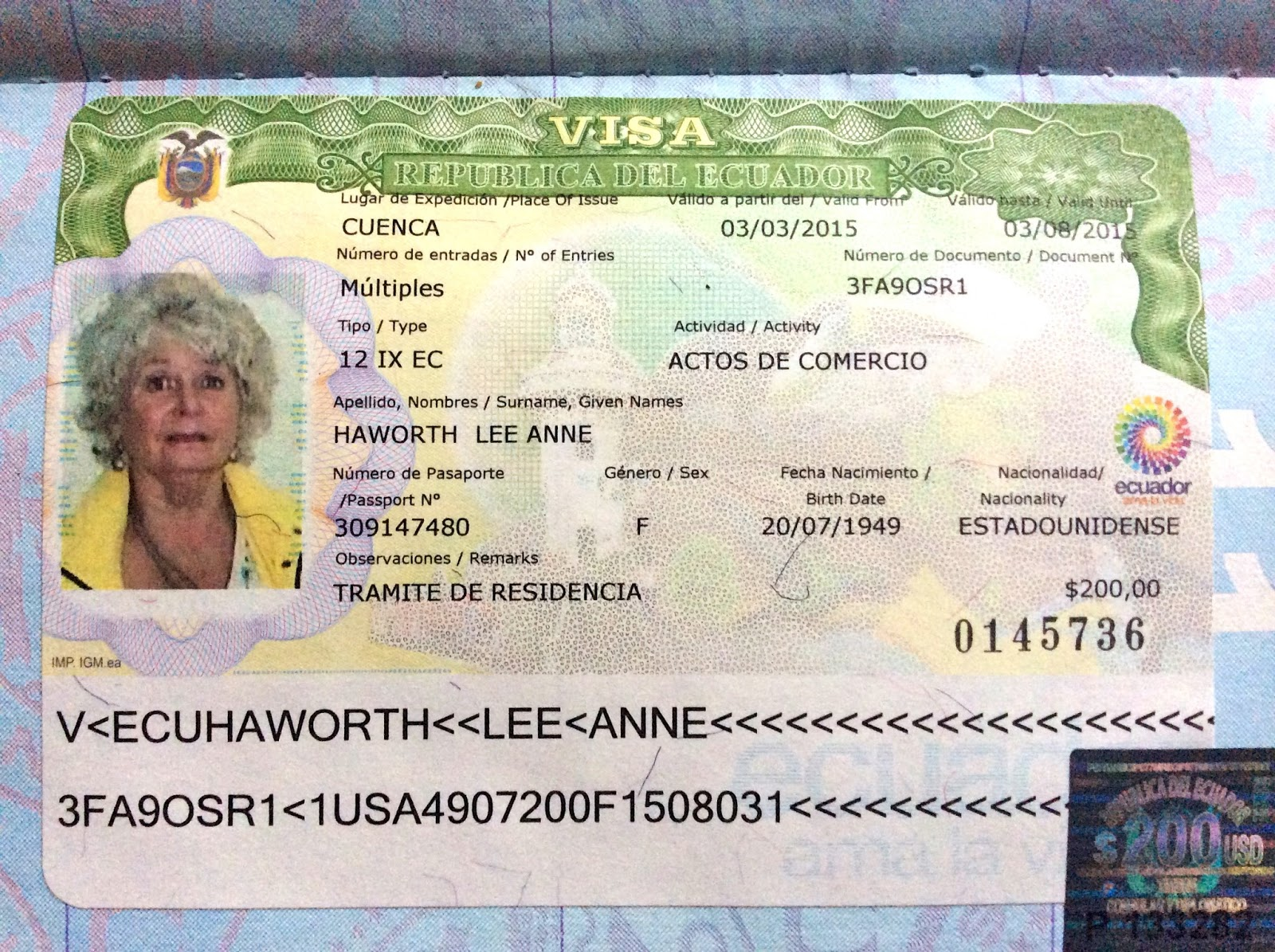 And Not A Moment Too Soon Since I Received A  Day Tourist Visa The Day Arrived In Ecuador On