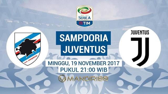 Sampdoria akan menjamu Juventus pada tubruk pekan ke Terkini Prediksi Bola : Sampdoria Vs Juventus , Minggu 19 November 2017 Pukul 21.00 WIB