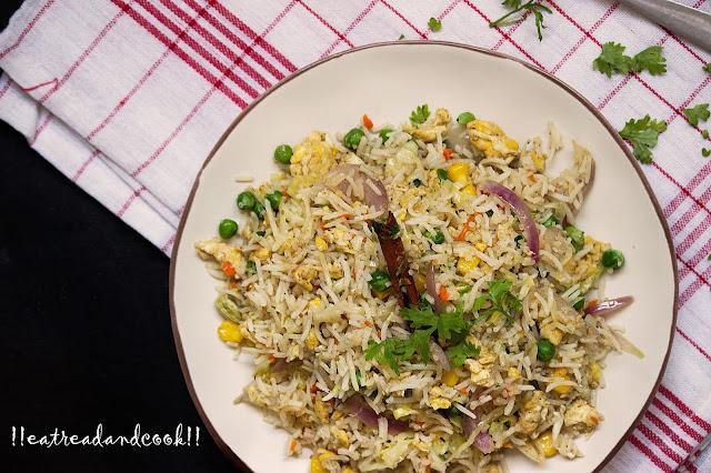 Stir Fried Leftover Rice / Bhaja Bhat recipe