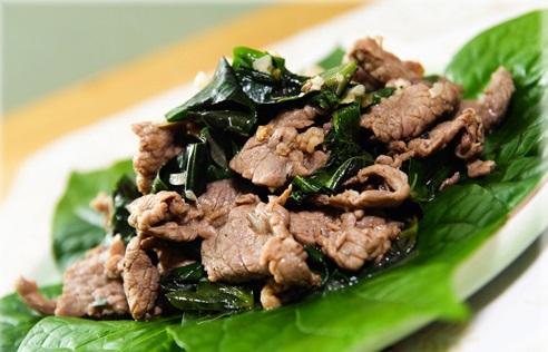 Cách làm món thịt bò xào lá lốt theo cách của người Hoa