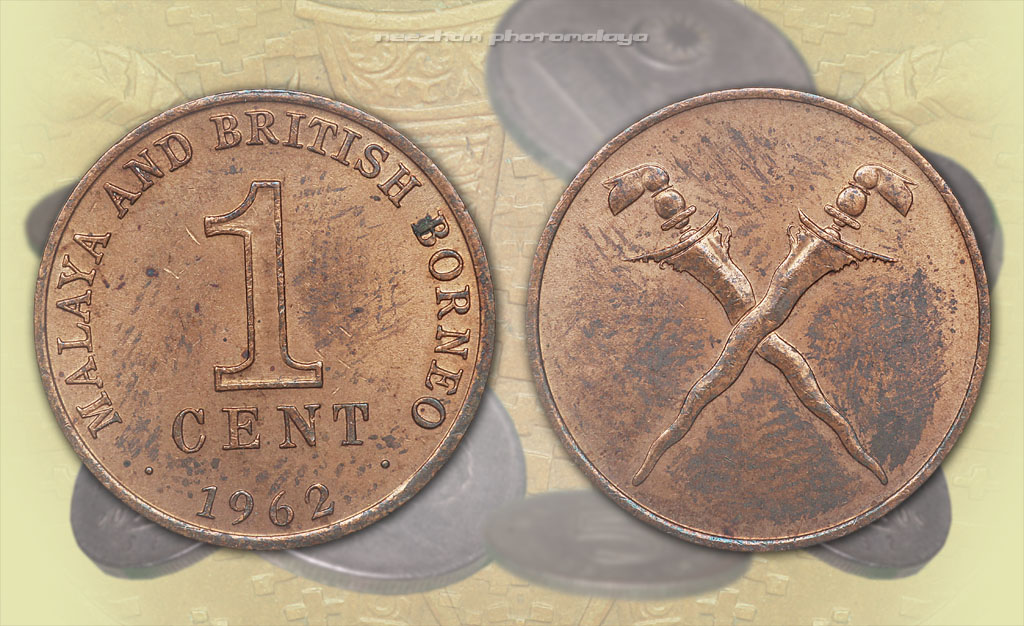 Malaya 1 cent 1962 old coin
