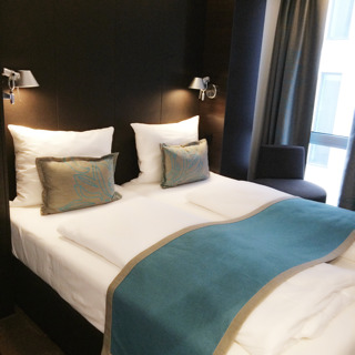 Twin bedroom at Motel One, Motel One, Motel One Manchester Piccadilly, Manchester Hotels, Weekend Breaks, Hen Weekends, Hotels, Manchester