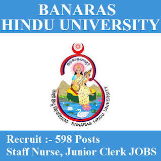 Banaras Hindu University, BHU, UP, Uttar Pradesh, Junior Clerk, Clerk, Staff Nurse, Graduation, freejobalert, Sarkari Naukri, Latest Jobs, bhu logo