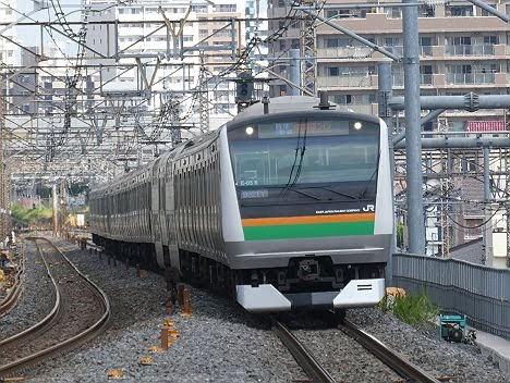 湘南新宿ライン 特別快速 新宿行き2 E233系(2018年 渋谷駅高架化工事に伴う運行)