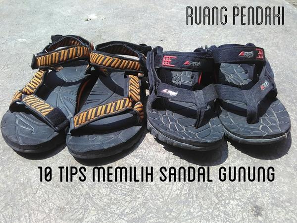 tips memilih sandal gunung