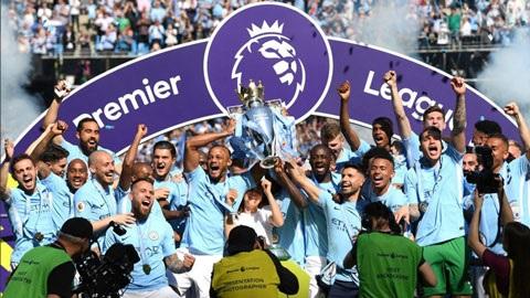 Man City lần thứ 2 vô địch ngoại hạng Anh