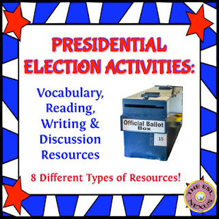 Use these 8 Presidential Election Activities by The ESL Nexus to teach students about how a US president is elected.