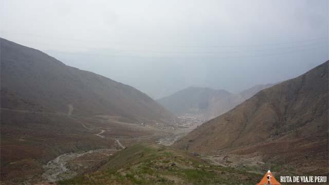 Vista del Valle del Rimac -Camino Inca  Chontay a California