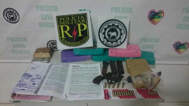 Operação conjunta resulta em prisão de traficantes e na apreensão de drogas e arma de fogo em Socorro