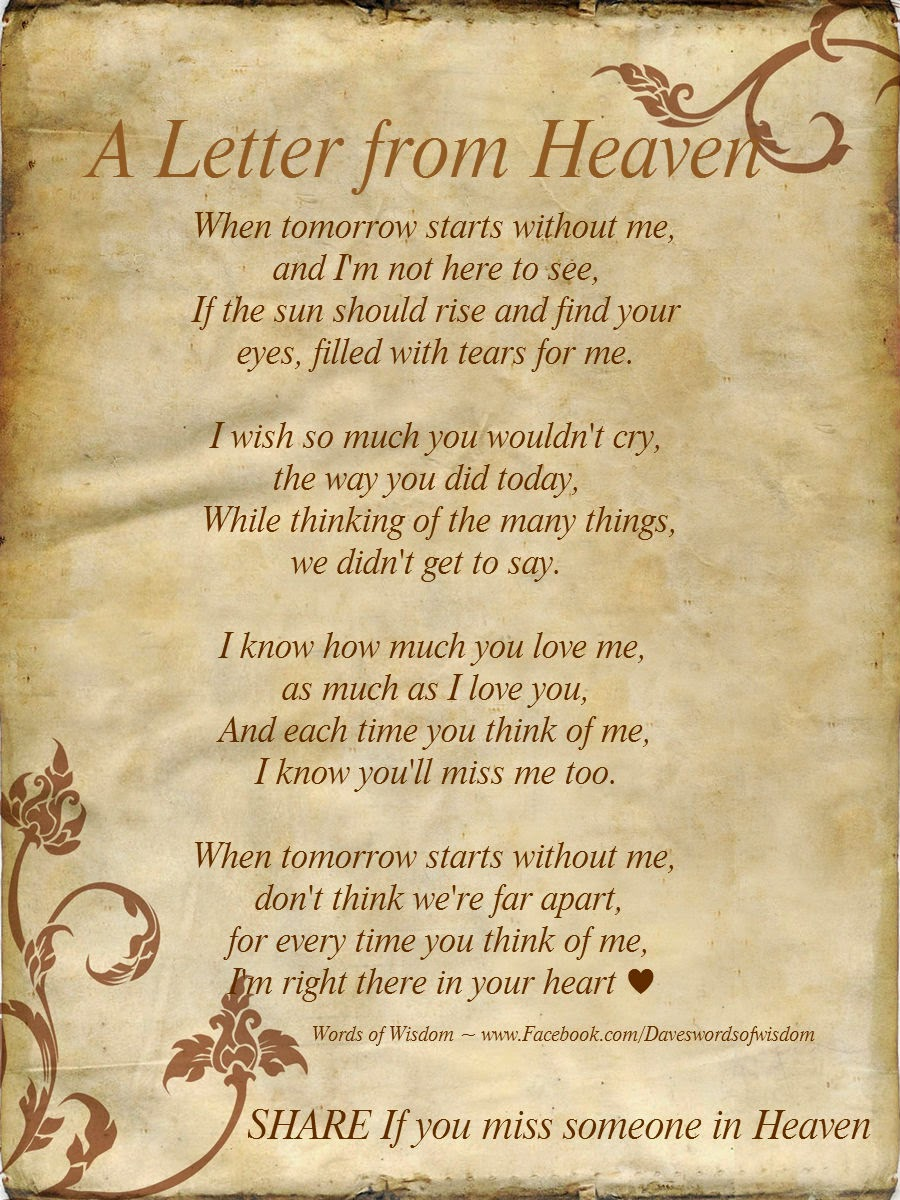 Wisdom To Inspire The Soul A Letter From Heaven