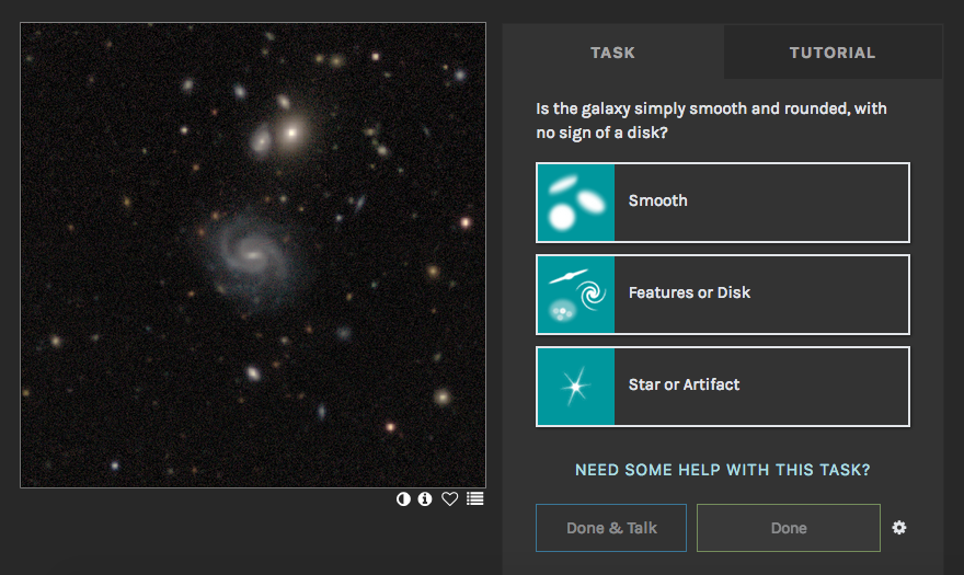 Galaxy Zoo: Classifying Galaxies with Crowdsourcing and Active Learning