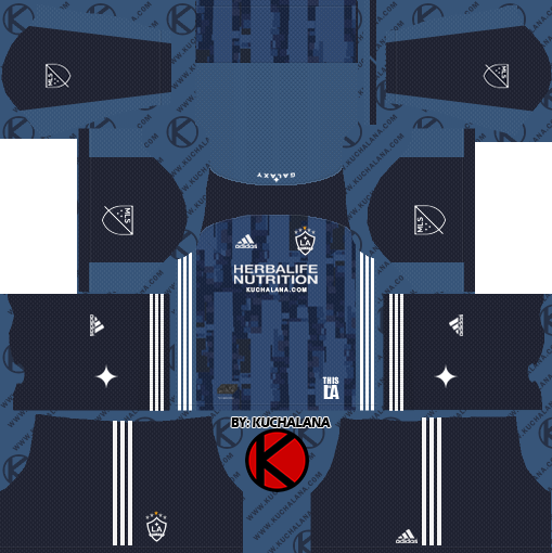 cb252fd77a5 LA Galaxy 2019 Kit - Dream League Soccer Kits - Kuchalana