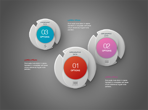Create Infographic Design Minimal Abstract Circle In Photoshop