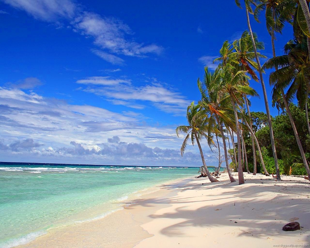 Hd Tropical Island Beach Paradise Wallpapers And Backgrounds: Sunny Day On A Beautiful Deserted Beach