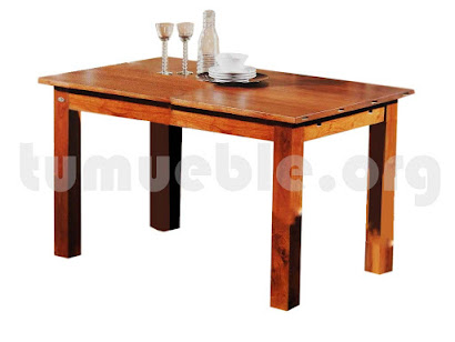 mesa comedor extensible hecho en teca 4005