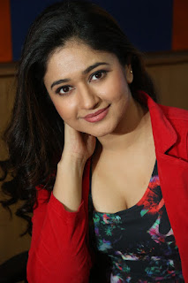 Poonam Bajwa Stills At Radio City In Red Dress (5)
