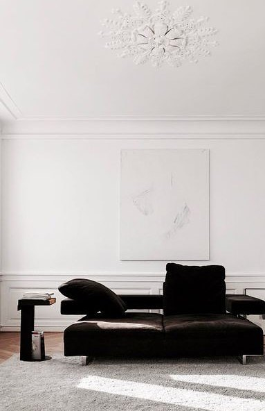 white and black minimalist design idea