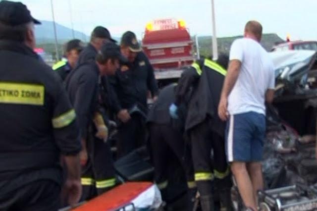 Ένας νεκρός μετά από σύγκρουση φορτηγού με ταξί στην εθνική Κορίνθου - Τριπόλεως
