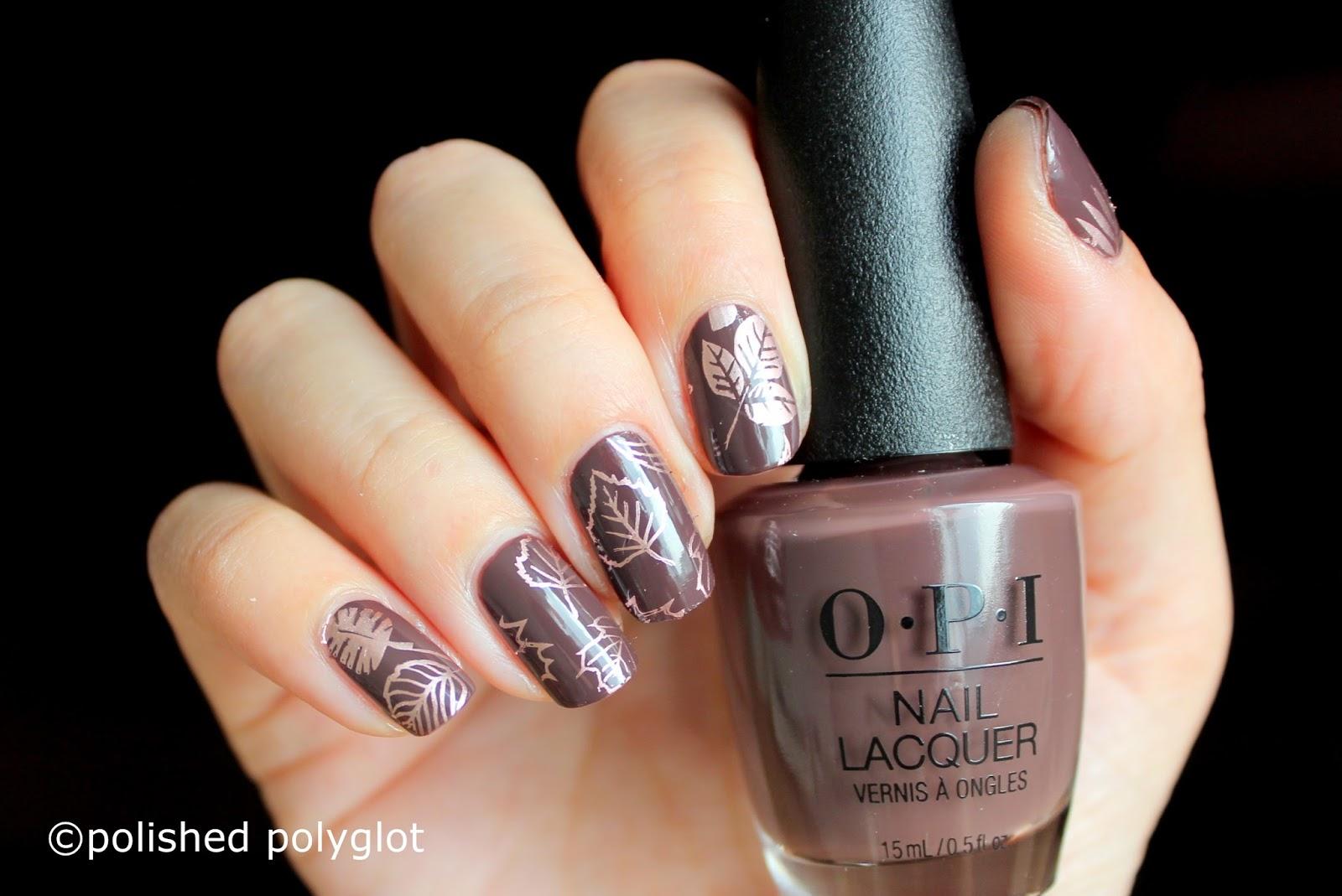 Nail Art Simple Autumn Nails 26gnai Polished Polyglot