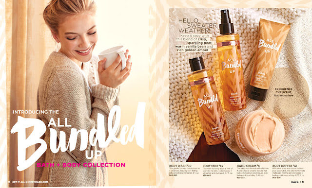Fall Exclusive All Bundled Up Bath + Body Collection mark.| AVON