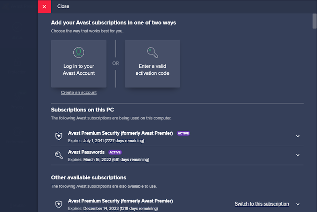 Avast Premium Security 20.3.2405