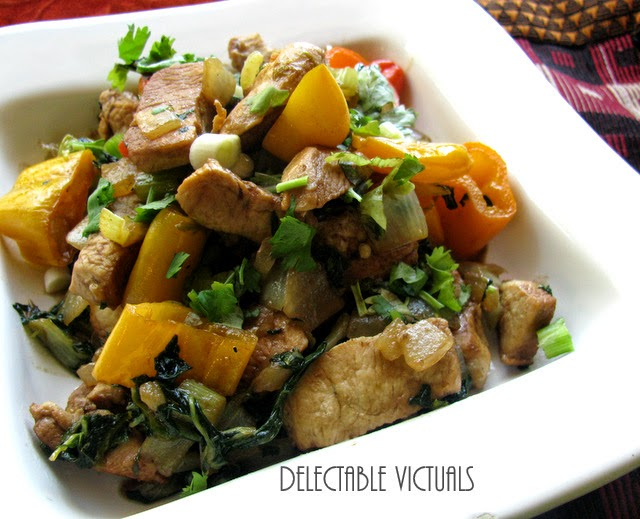 Nigella caraway black cumin flavored Baby Bok Choy  Bell Pepper Chicken