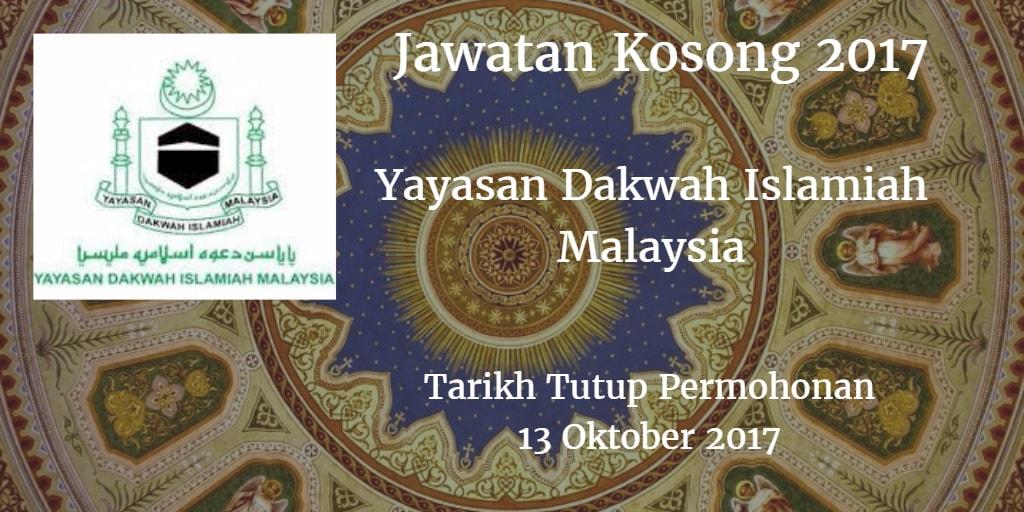 Jawatan Kosong YADIM 13 Oktober 2017