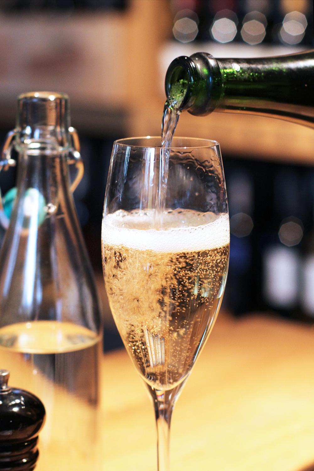 Champagne at Rozbrat 20 Restaurant, Warsaw - travel & lifestyle blog