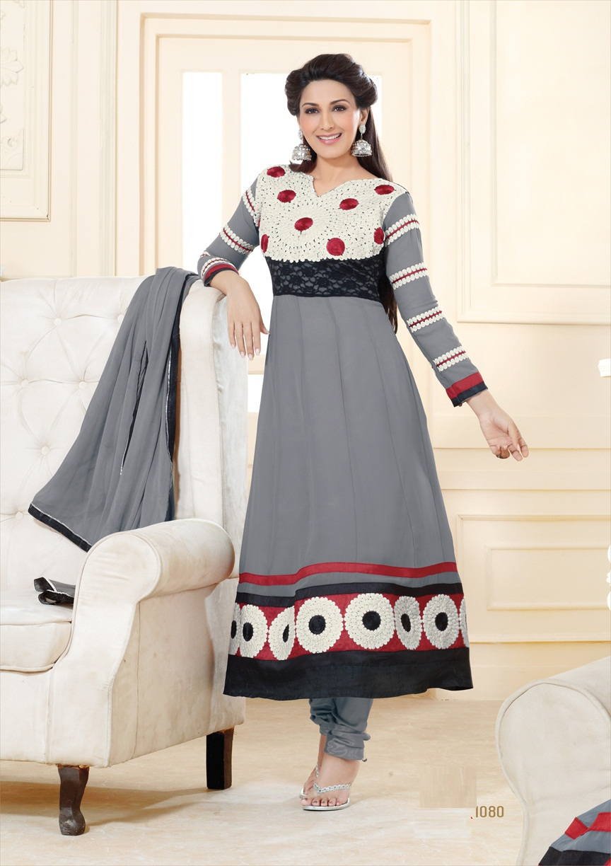 Umiza-Heavy Stylish Fancy Georgette  Anarkali Salwar Suit