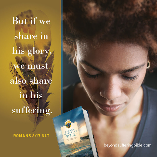 """But if we share in his glory, we must also share in his suffering."""