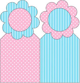 Para marcapáginas de Celeste, Rosa y Amarillo.