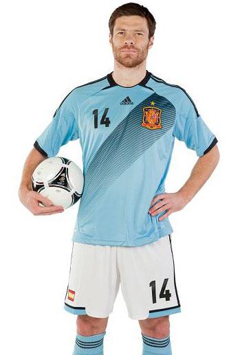 Segunda camiseta España Eurocopa 2012 camiseta azul selección española - MENTE NATURAL DE MODA