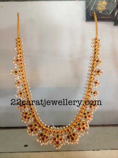 Gutta Pusalu Necklace 80grams Jewellery Designs