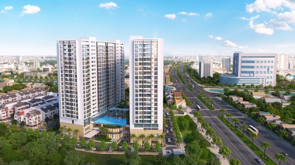 Phối cảnh dự án Green Pearl 378 Minh Khai
