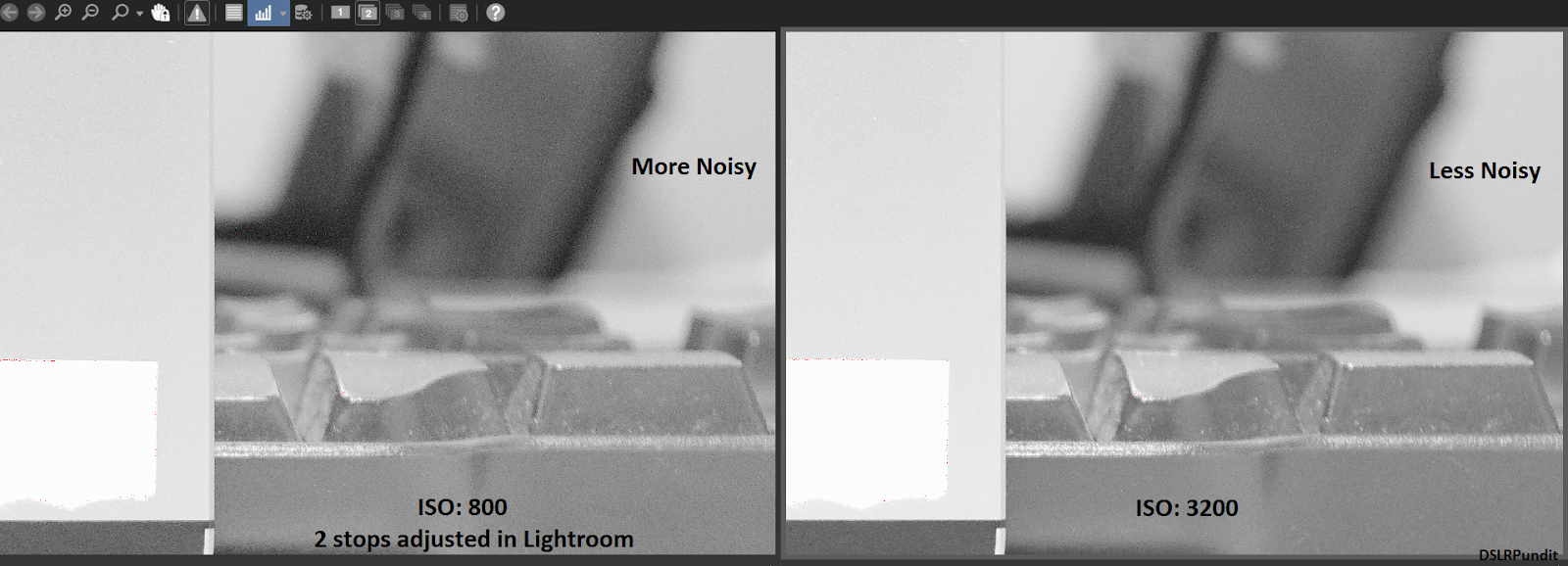 Higher vs lower ISO noise