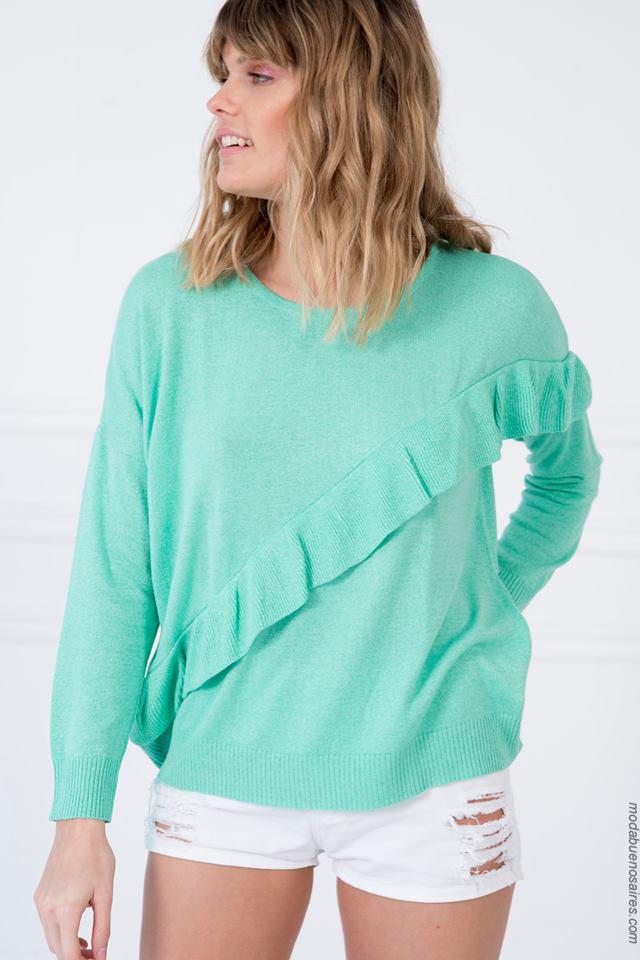 Sweaters moda mujer verano 2018. Ropa de moda verano 2018.