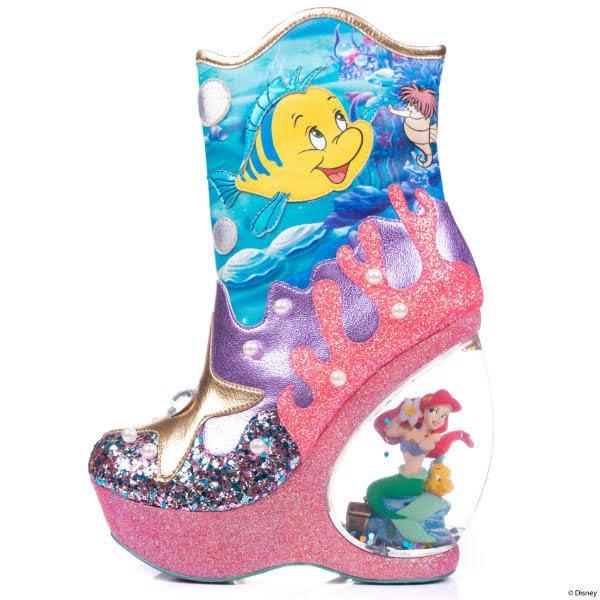 little mermaid character heeled boot