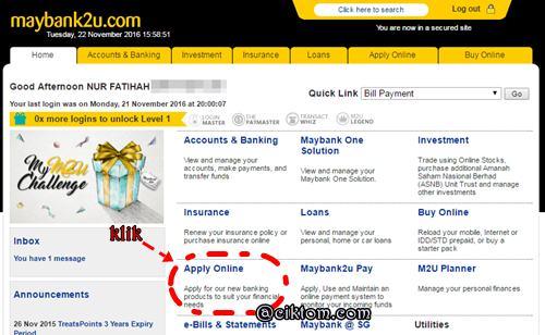 Cara Buka Akaun Kedua Maybank Secara Online