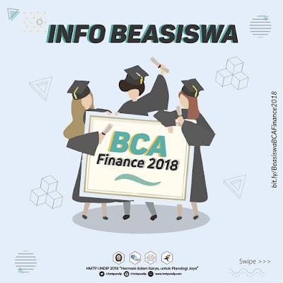 Info Beasiswa: BCA Finance 2018