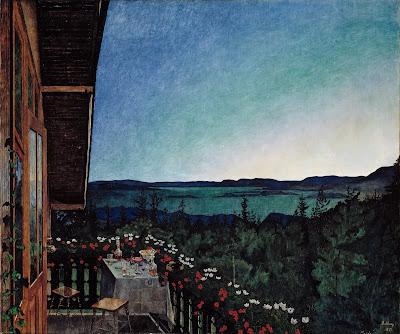 Peintre norvégien Harald Sohlberg : Nuit d'été  galerie nationale Oslo