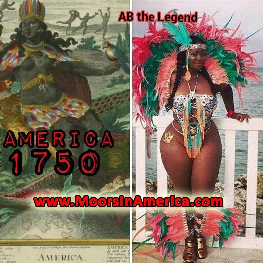 black indian carnival america 1750