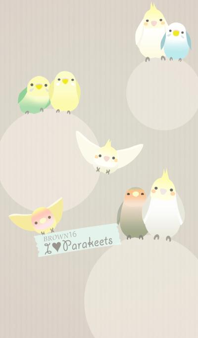 I Love Parakeets/Brown 16
